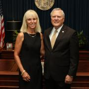 left to right: Sandy Adams and Governor Nathan Deal